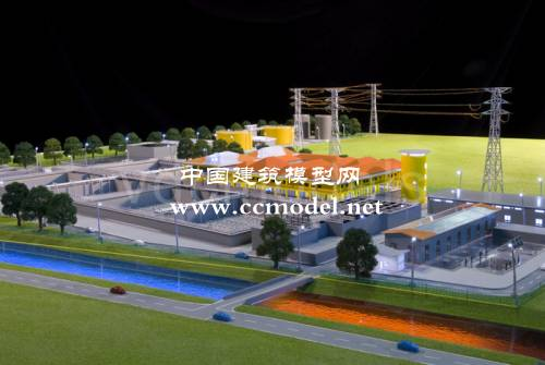 越南河内污水处理厂建筑模型