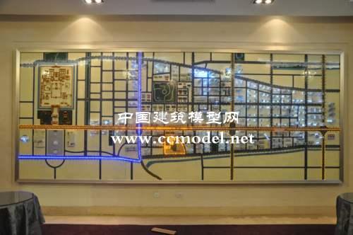 地杰长安驿壁挂模型,地杰长安驿区域沙盘模型图片