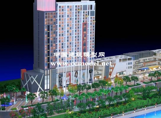 赣州休闲娱乐城建筑模型,大厦模型