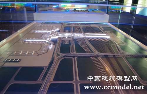 虹桥机场展示模型,机场沙盘