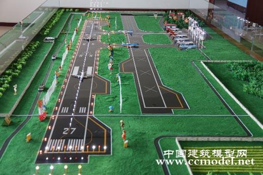 机场鸟击防范沙盘模型制作完成